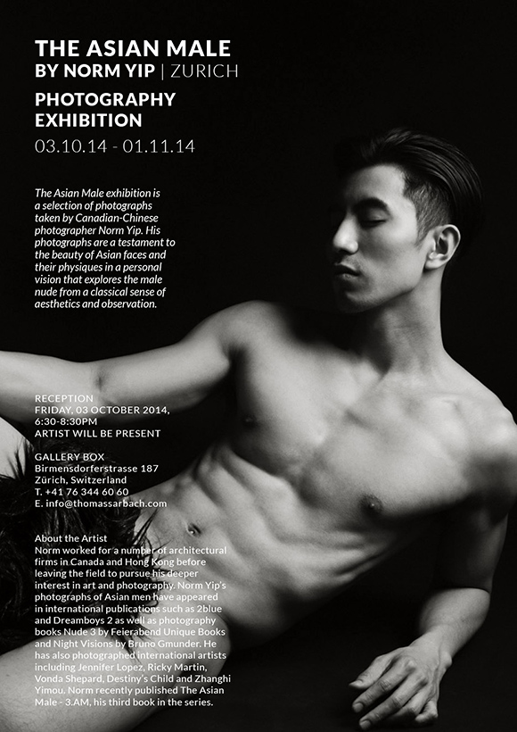 The Asian Male, Photography Exhibition in Zurich